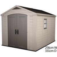 Keter Factor Outdoor Storage Garden Shed 8x11ft