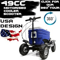 Large Petrol Cooler Box Scooter 49CC