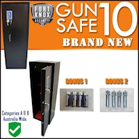 5 Lock 10 Gun Safe Storage Steel Firearm Cabinet