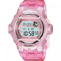 Casio Baby-G Clear Pink Ladies Watch (BG-169R-4DR)