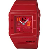 Casio Baby-G Red Square Analog Women's Watch