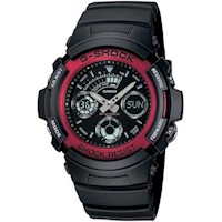 Casio G-Shock Mens Watch Black and Red AW-591-4ADR