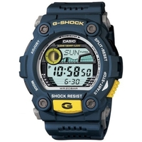 Casio G-Shock Navy & Yellow Sporty Mens Watch