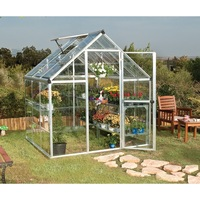 Maze 6' x 6' Clear Polycarbonate Greenhouse