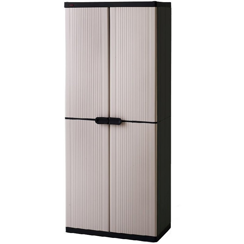 Keter 4 Shelf Plastic Storage Cabinet Cupboard | Buy Click Frenzy: www.mydeal.com.au/keter-4-shelf-indoor-plastic-storage-cabinet