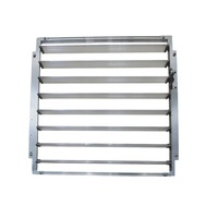 Aluminium Greenhouse Side Louver Window