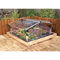 Double Cold Frame Greenhouse with Crystal Clear Lid