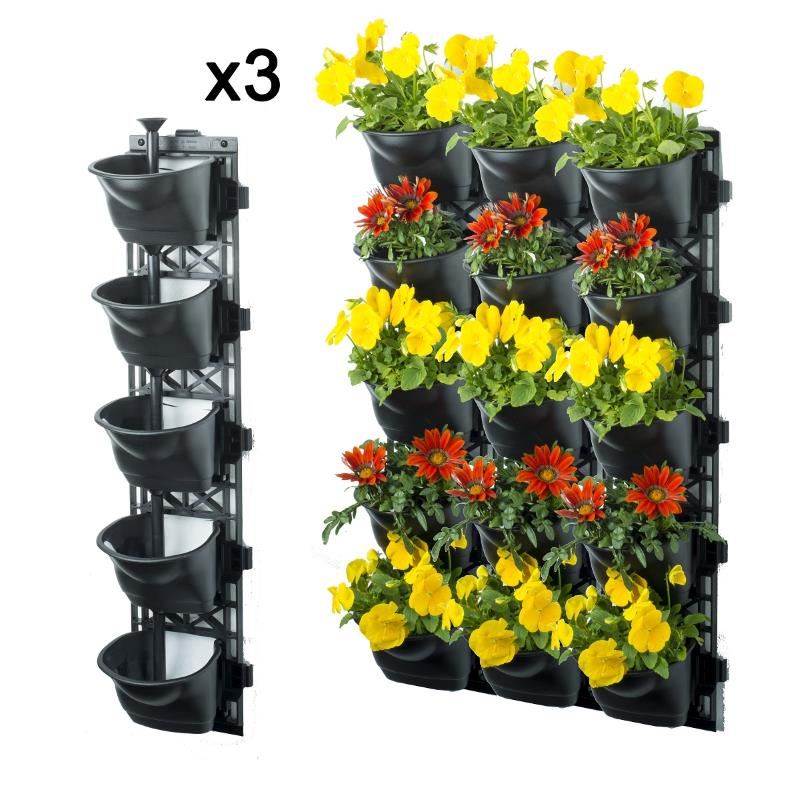 Vertical Garden Kit With 15 Pots And Weed Mats