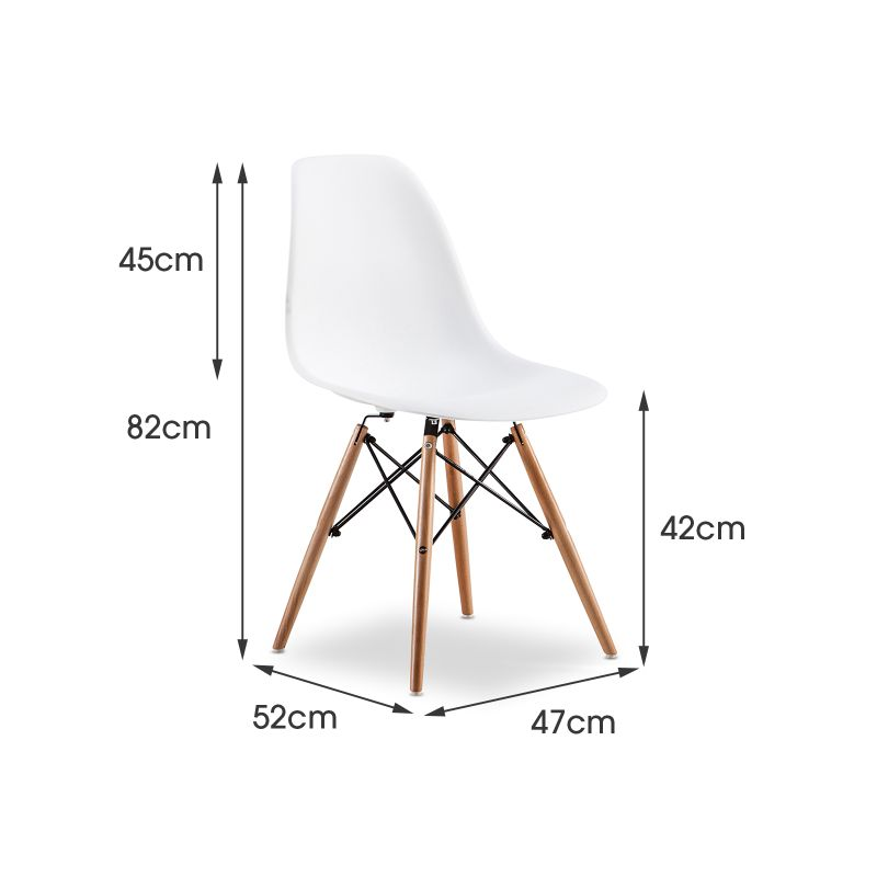 Replica Eames DSW Side Chair White Set Of 6 Buy Eames Dining Chairs