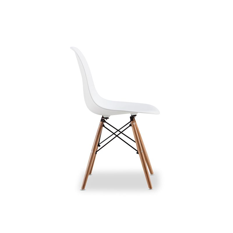 Replica eames dsw side chair white set of 6 buy eames for Side chair replica