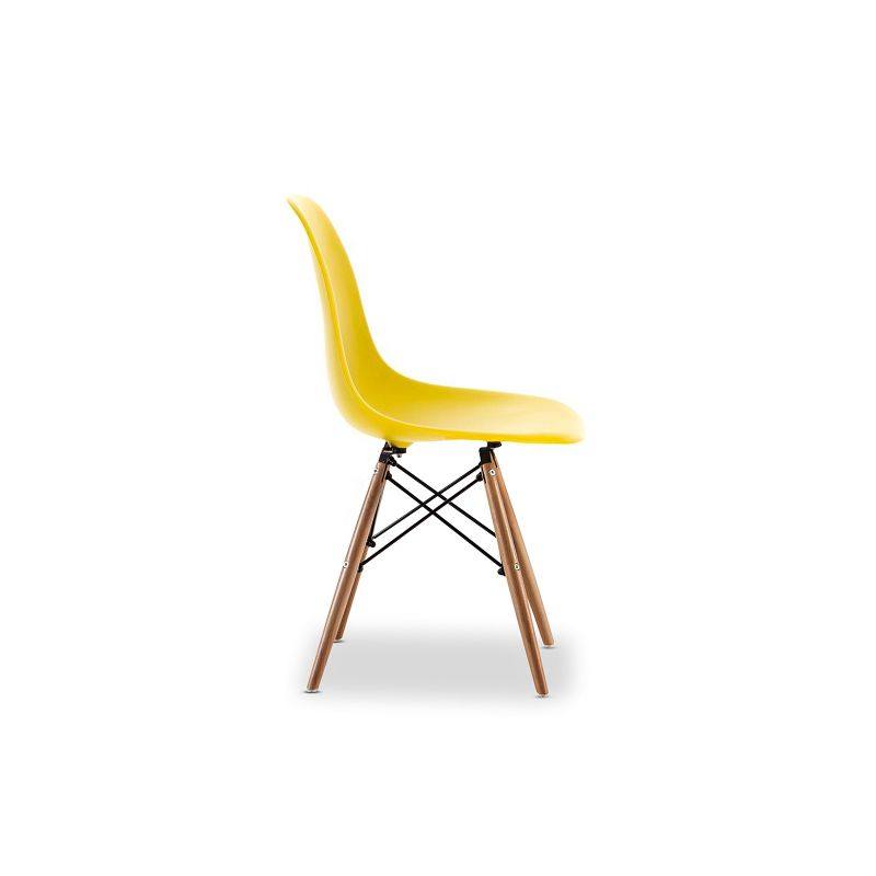 Replica eames dsw side chair yellow set of 4 buy eames for Side chair replica