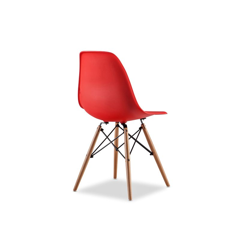 Replica Eames DSW Side Chair Red Set Of 4 Buy Eames Dining Chairs