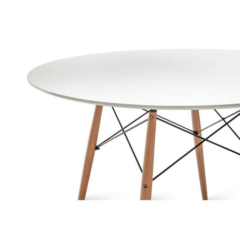 Replica eames round dining table in beech steel buy round dining tables - Replica eames dining table ...