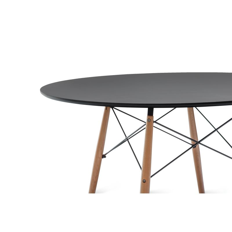 Eames DSW Large Round Dining Table Replica in Black Buy  : 701 02102 from www.mydeal.com.au size 800 x 800 jpeg 47kB