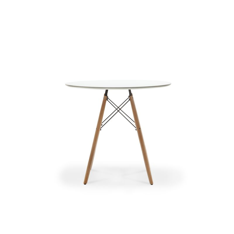 Replica eames dsw round dining table 80 white buy dining for Table eames dsw
