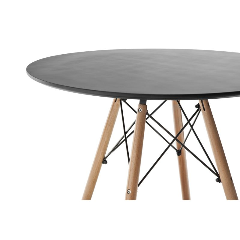 Replica eames dsw round dining table 80 black buy dining for Table eames dsw