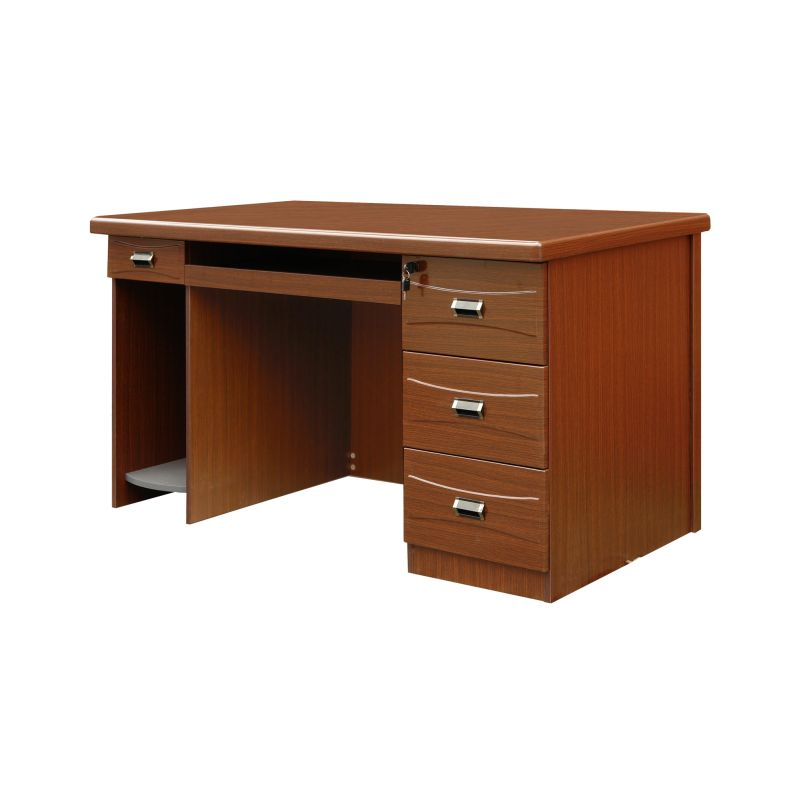 Gloss timber veneer computer office desk 140cm buy office furniture Timber home office furniture brisbane