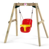 Plum Wooden Framed Toddler Kid's Swing Set