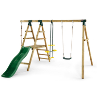 Kids Playground with Swings, Glider, Rope & Slide