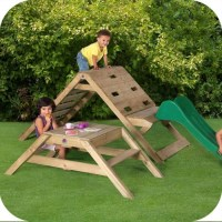 Plum Kids Play Gym Climbing Frame w/ Picnic Table