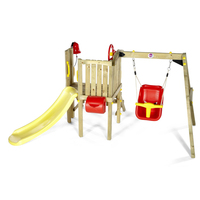 Plum Toddlers Swing, Slide & Cubby House Playground