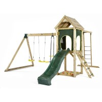 Plum Kids Frame w/ Monkey Bars Swings Cubby Slide