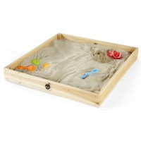 Plum Kids Toddler Sandpit & Cover with Wooden Frame