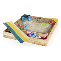 Plum Kids Wooden Sandpit with Storage Box & Cover