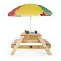 Plum Kids Wooden Picnic Table with Umbrella