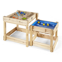 Plum Kids Wooden Sand Table & Water Table Playset
