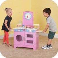 Plum Kids Wooden Toy Kitchen for 2 & Accessories