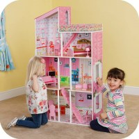 Kids Modern Townhouse 3 Story Dollhouse & Furniture
