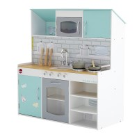 Plum 2 in 1 Dolls Town House and Play Kitchen