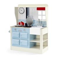 Plum Kids Country Farmhouse Play Kitchen Blue Cream