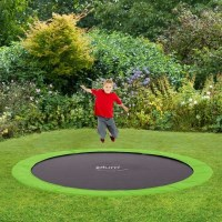 Plum Kids 12ft Spring In-Ground Trampoline in Green