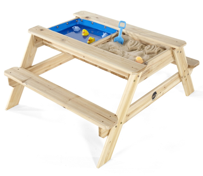 Plum Kids Wooden Picnic Table With Sand And Water Buy