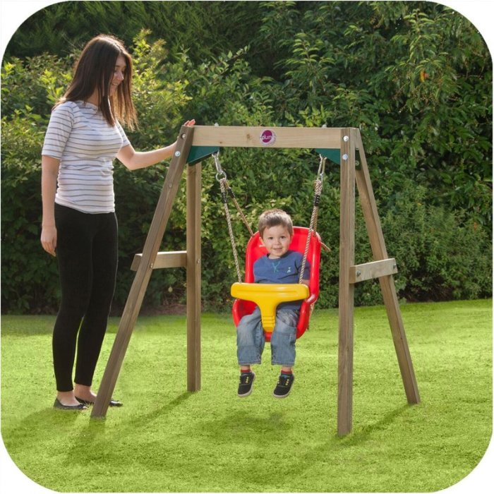 Plum wooden framed toddler kid 39 s swing set buy baby kids for Swing set frame only
