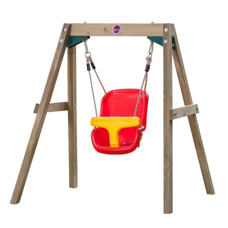 Plum kids backyard wooden play single swing set buy for Swing set frame only