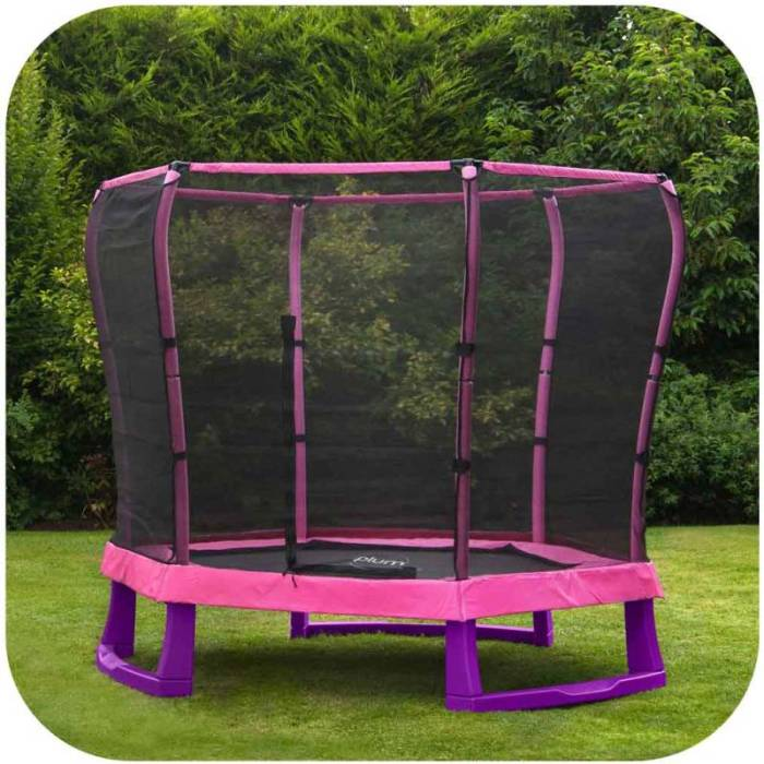 Trampoline Parts Plum: Plum 7ft Kids Mini Junior Trampoline With Enclosure