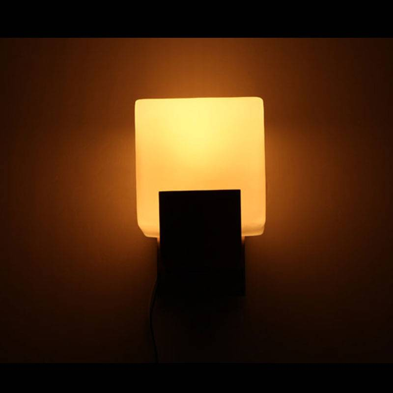 Glass Cube Wall Lights : Contemporary Mia Wooden and Glass Cube Wall Light Buy Lights