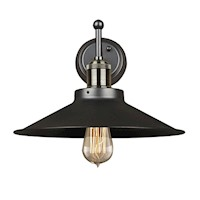 Ava Black Vintage Wall Light Retro Lamp