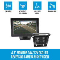 LED CCD Reversing Camera 24V/12V & 4.3in Monitor