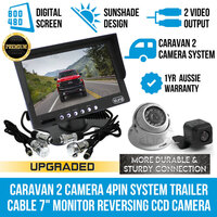 7in Monitor, 2x Reversing Cameras & Trailer Coil