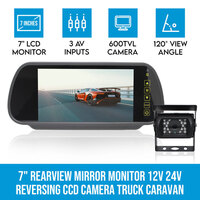 7in Rear View Mirror Monitor & Reversing Camera
