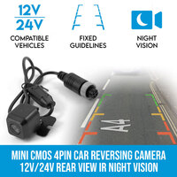 Mini 4PIN Rear View Reversing Camera w Night Vision