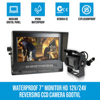 Waterproof 7in LCD Monitor & CCD Reversing Camera