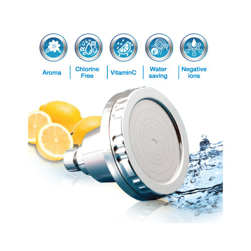 aroma vitamin c filter high pressure shower head buy shower heads arms. Black Bedroom Furniture Sets. Home Design Ideas