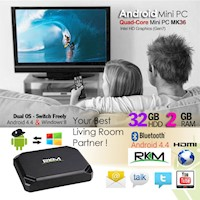 RKM Mk36 Mini PC Win8.1 and Android 4.4/2G Ram/32G