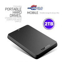Toshiba 2Tb External Mobile HDD 2.5 Inch USB 3.0