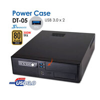 Powercase DT05 Slim Desktop 2 X USB 3.0 + 350W PSU